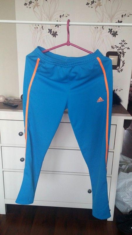 Spodnie dresy adidas niebieskie old school rozm 11-12 lat dobre na xs s male m