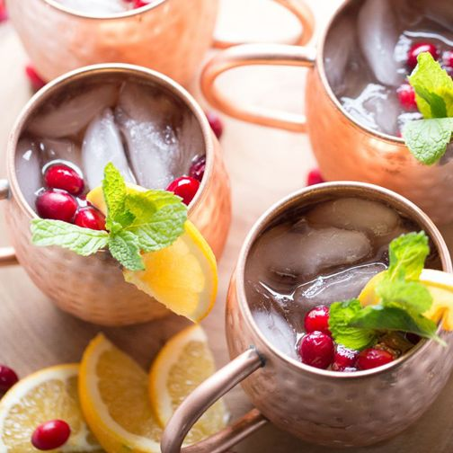 Cranberry Orange Moscow Mule Drink Recipe - RecipeChart.com