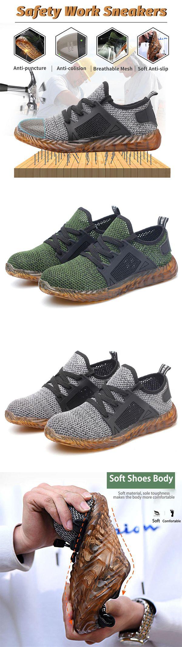 Mesh Slip Resistant Work Shoes