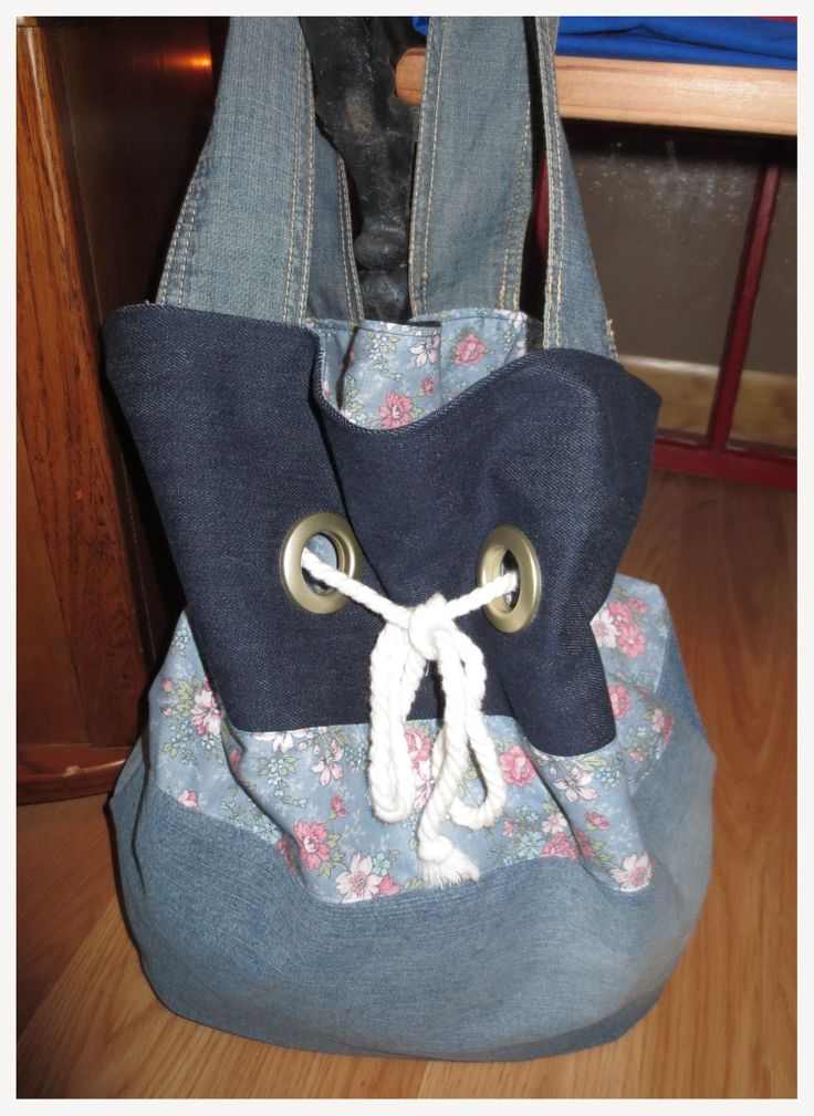 Jean bag I made for my mom for Christmas! she loved it!