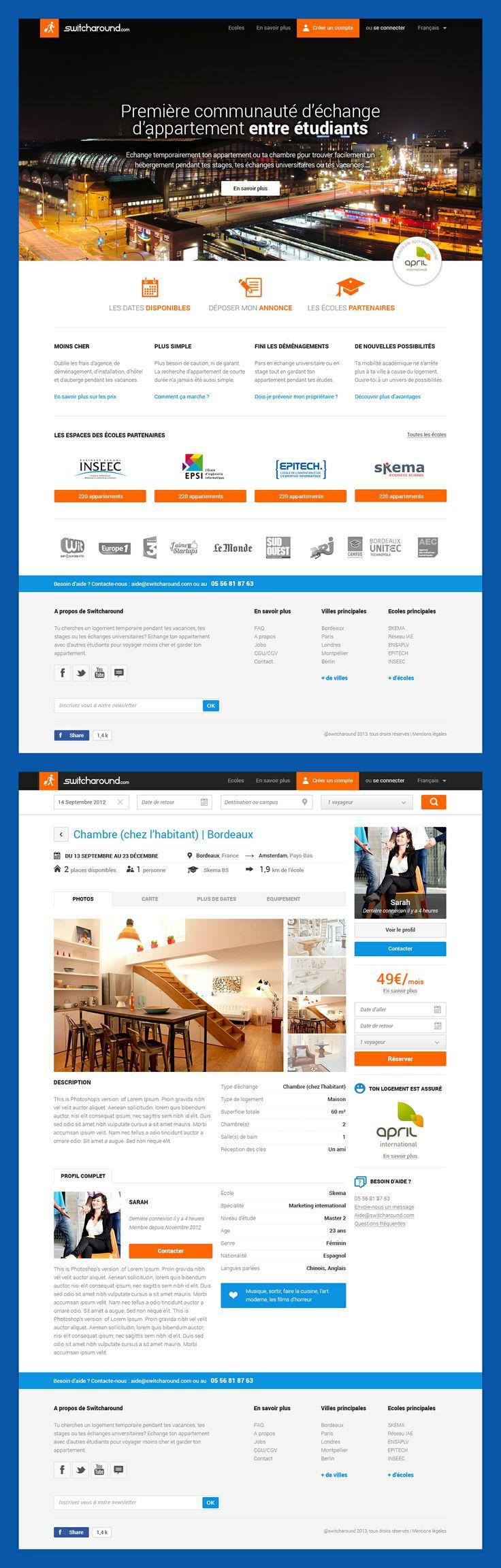 Switcharound : Première communauté d'échange d'appartement entre étudiants.