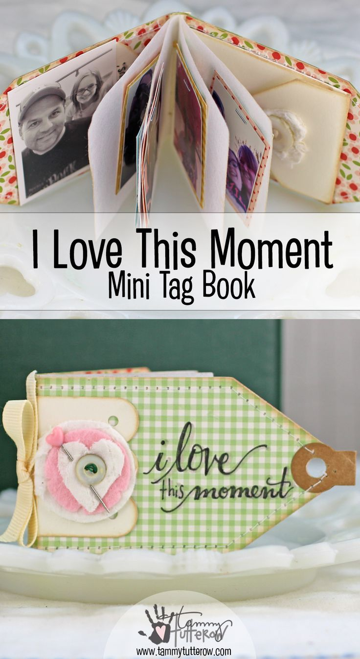 A fun little mini book that is so easy to make thanks to the Mini Tag Book die by Tammy Tutterow for Spellbinders.