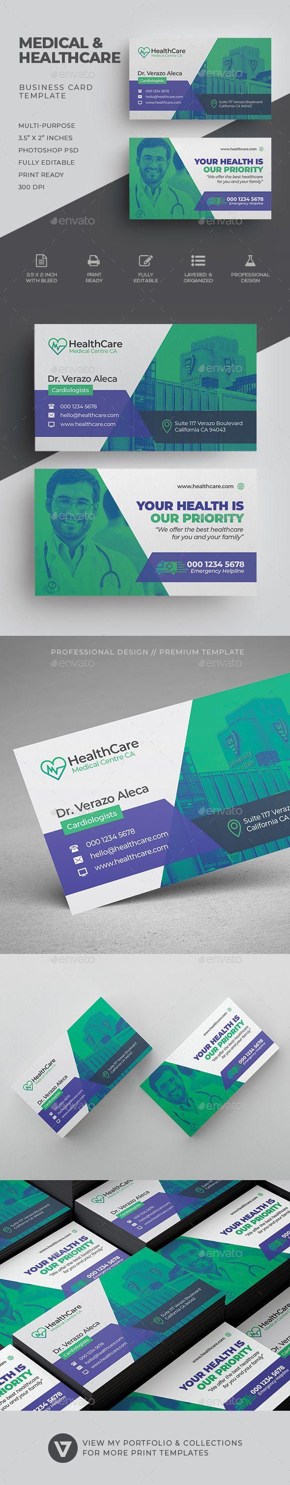 Medical Business Card Template | Medical business card, Medical ...