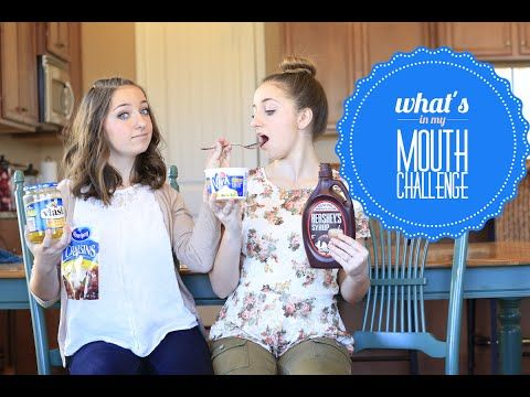 What's in my mouth challenge!  #challenge #brooklynandbailey #youtube