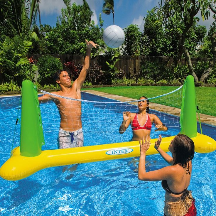 Inflatable Pool Ideas find this pin and more on inflatable pool toys Pool Volleyball Game Toys Games And Floats Accessories