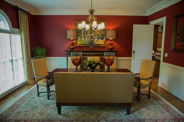 25 best burgundy walls ideas on pinterest burgundy room for Burgundy dining room ideas