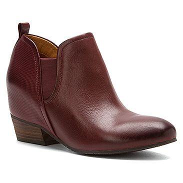 boots: Naya Women's Felix Cordovan Leather/Embossed Leather M US