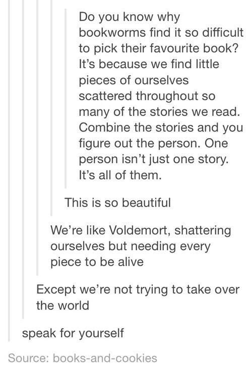 6 unbelievable bookworm theories you need to see, including this one which may just help you empathize with Voldemort.