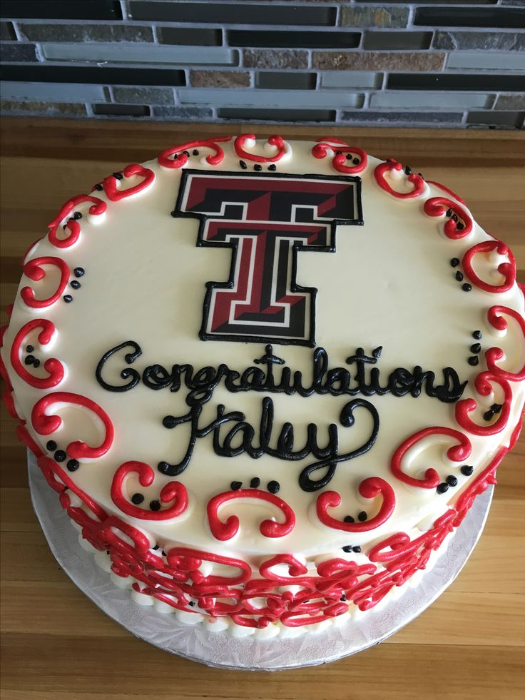 Texas Tech graduation cake                              …