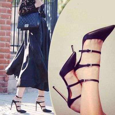 2015 New Brand Women Sandals High Heels gladiator Sandals Women Pumps Stilettos Sexy Wedding Party Shoes White Black-in Women's Pumps from Shoes on Aliexpress.com | Alibaba Group