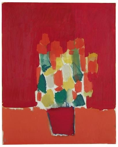 Nicolas de Staël (French nationality, of Russian origin) was a painter known for his use of a thick impasto and his highly abstract landscape painting. He also worked with collage, illustration and textiles.