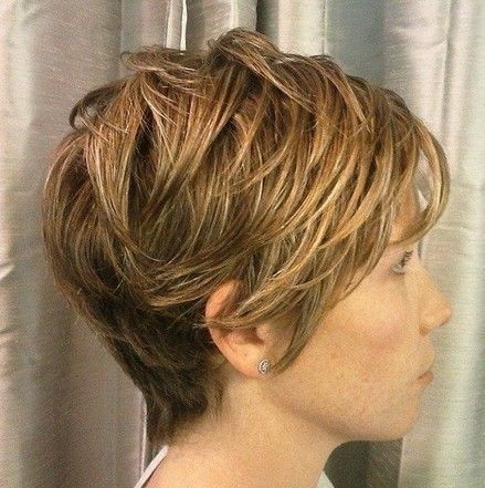 nice Long layered shattered wedge finished with a texture creme to achieve a piecey l...