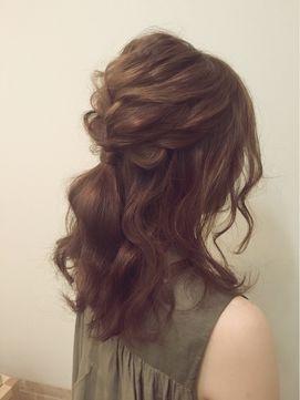 hairmake salon Beautopia 【ヘアメイクサロン ビュートピア】 シンプルハーフアップ