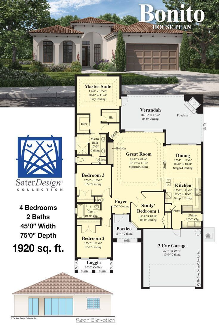 The Bonito Sater Design Collection Luxury Home Plans Newhouseplan Newhomeplan House Plans New House Plans Sater