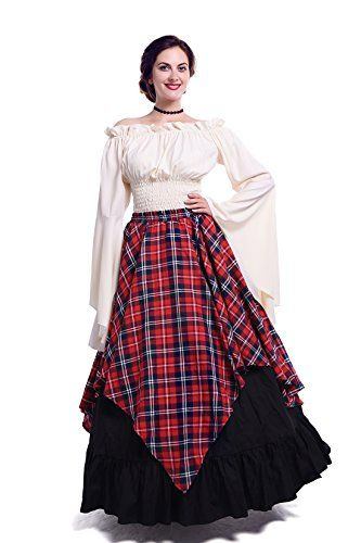 14b2705cf1a Nuotuo Womens Renaissance Medieval Costume Dress Gothic V ...