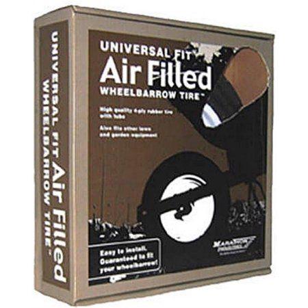 Universal Fit Air Filled Wheelbarrow Tire-Univ Wheelbarrow Tire, Multicolor