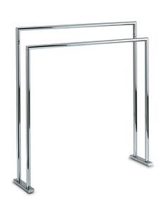 Walther Freestanding Towel Bathroom Rack Stand Bar 27.5-inch Towel Holder. Chrome