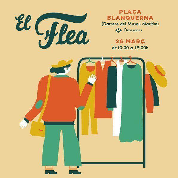 El Flea market in Barcelona