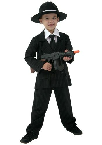 Kid's Gangster Costume - Boy's Deluxe Gangster Suit Costumes