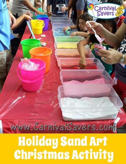 Anytime Sand Art Fun - See the Winter Themed Sand Art Supplies!