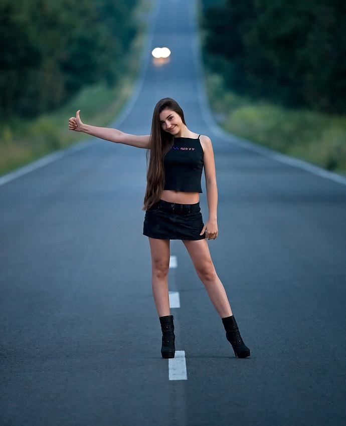 Teen hichhikers