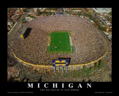 The Big House. GO BLUE. University of Michigan