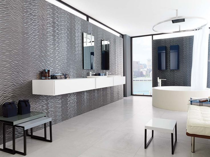Porcelanosa 39 s silver metallic wall tiles with beautiful for Porcelanosa catalogue carrelage