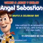 Invitaciones de cumpleaños de Woody y Buzz Lightyear de Toy Story