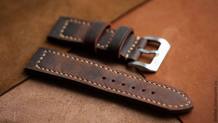 Купить Ремешок из натуральной кожи для часов - коричневый ...