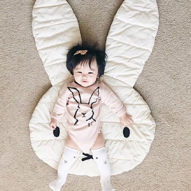 Nuovo Bella Coniglio stuoia Strisciante coperta Strisciare Coperta di Tappeti Piano Bambino Tappeti Gioco coperta di cotone organico avvolto bambini picnic