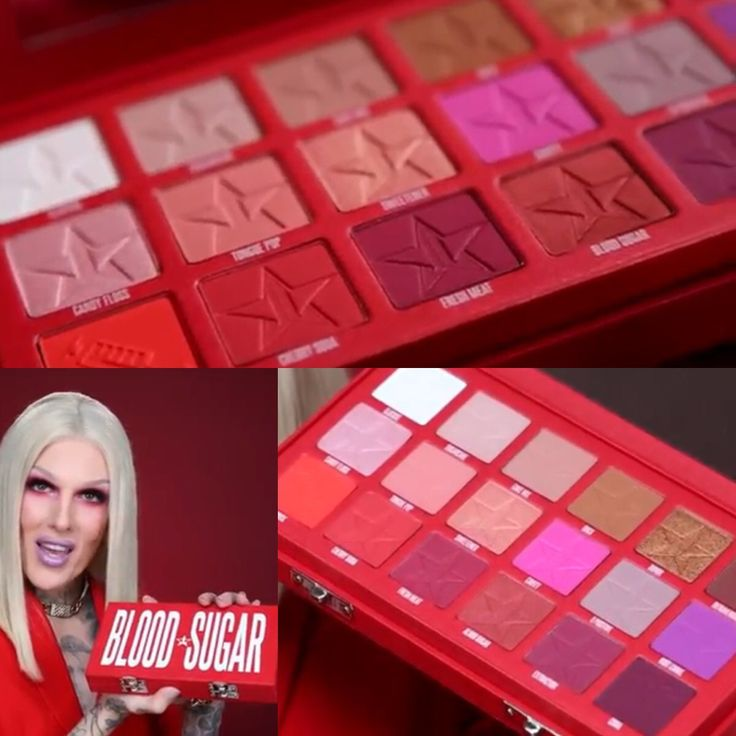 Jeffree Star Cosmetics the Blood Sugar palette