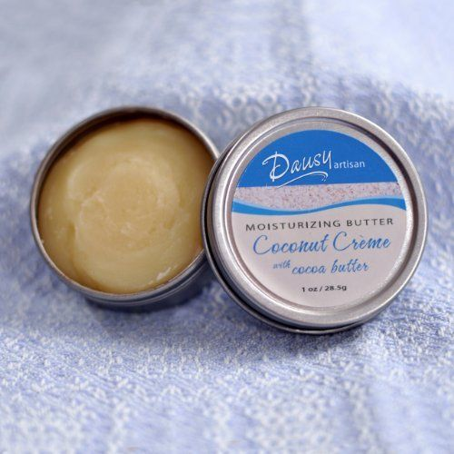 Dausy Artisan Coconut Creme with Cocoa Butter by Dausy Artisan. $8.50. This summery coconut blend contains cocoa butter, glycerin and rich skin-nourishing oils. We make this butter in small batches to preserve freshness.. 100% natural. Preservative- and paraben-free.. 1 oz /28.5g. This summery coconut blend contains cocoa butter, glycerin and rich skin-nourishing oils. We make this butter in small batches to preserve freshness.