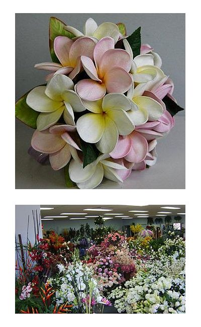 Floral Land | Artificial Trees & Plants, Artificial Flowers, Latex Real Touch Wedding Bouquets Flowers, Melbourne Blue Singapore Orchids, Roses, Lily, Silk Flowers