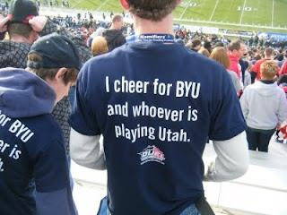 I want one that says: I cheer for the Browns and whoever is playing Pittsburgh and the Ravens!!! :)