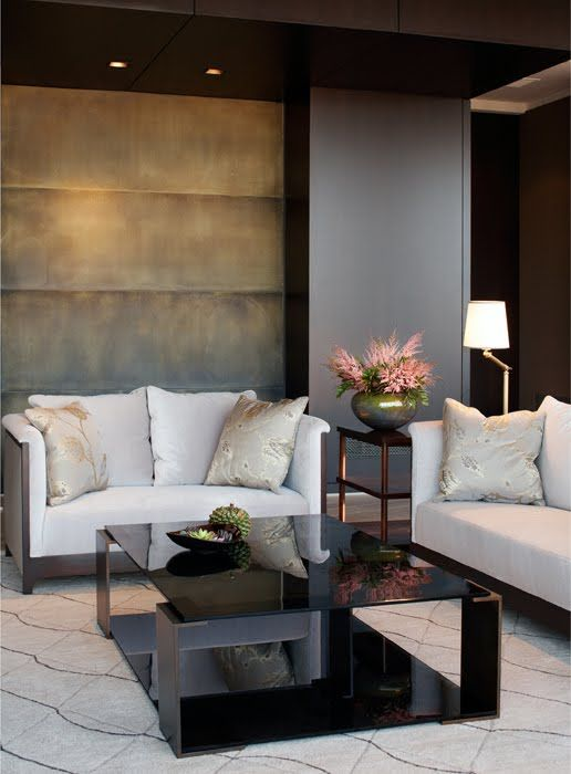 soft gold, grey, black gloss and dusky pink - padded wall STUDIO ANNETTA