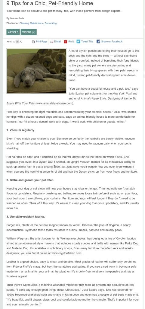 Do you know how to make your home Pet Friendly