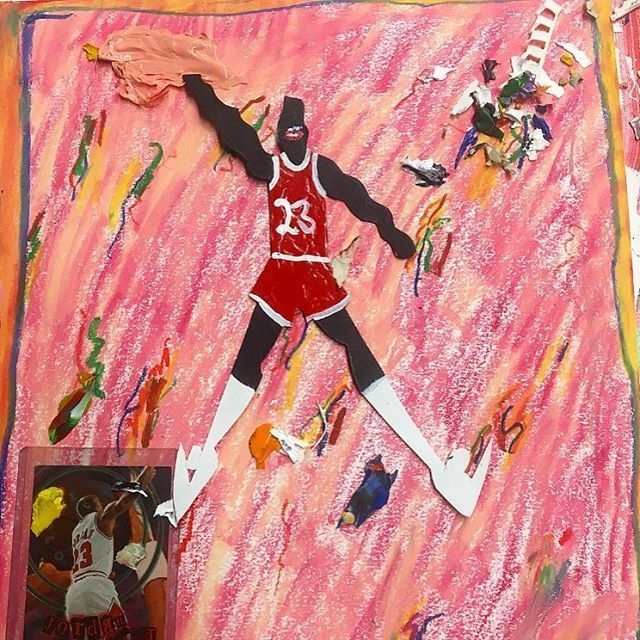 """victoryjournal Basketball is back. (🎨: """"im so tired of jumpin all the time man"""" by #DevinTroyStrother) #VictoryRecommends #ExhibitionGame #NBA #Basketball #Hoops #MichaelJordan #MJ #GOAT #23 2016/10/27 07:00:33"""