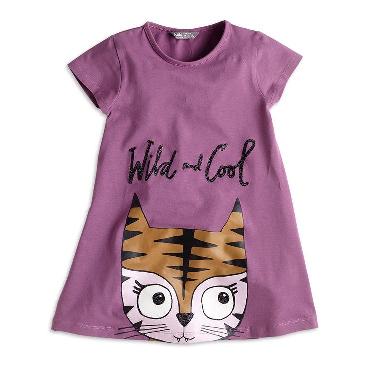 Tunic with Print, Purple, Girl 2-7 Years, Kids | Lindex
