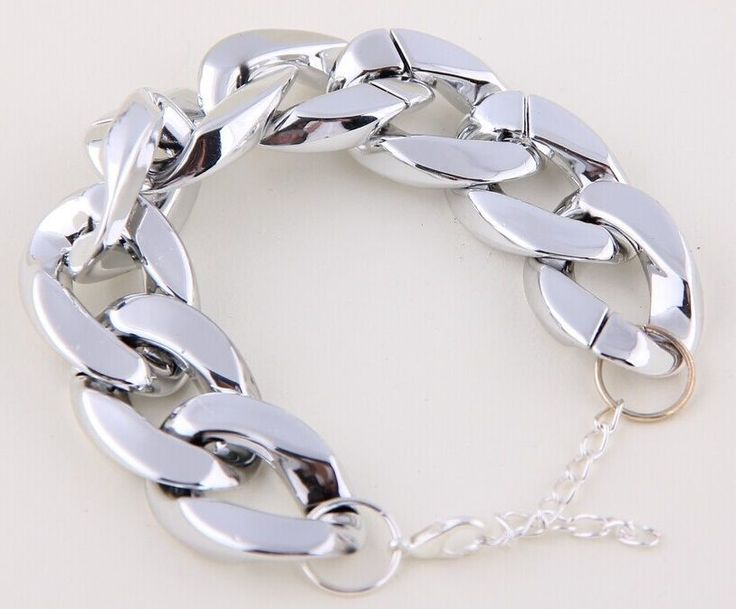 Coarse chain Silver Plated Bracelet AUCTION JUST STARTED