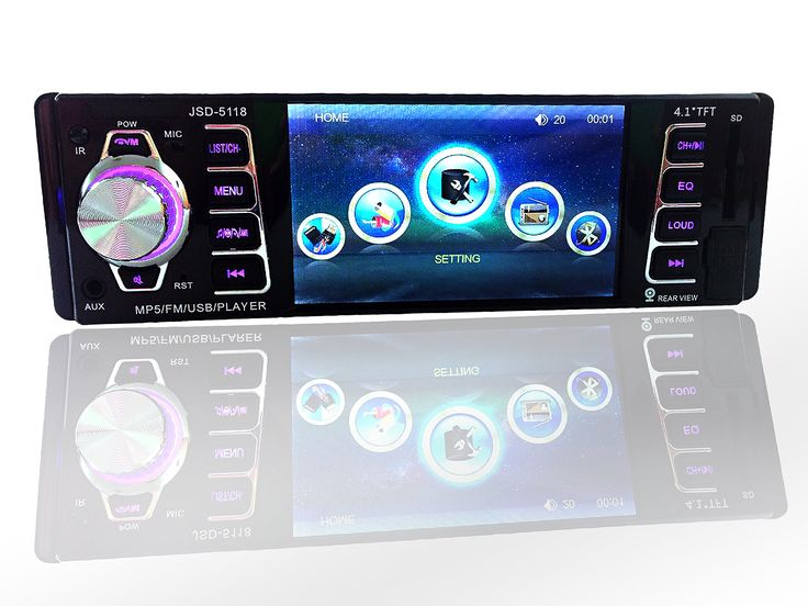 """Car Stereo Receiver ,UPSZTEC Audio 4.1"""" HD Digital 12V,Car Video Player,Single Din,Car Electronics In-Dash,Remote control (5118). 4.1"""" TFT HD Car Stereo Screen Supprot: RMVB/RM/FLV/3GP/MPEG/DIVX/XVID/DAT/VOB/AVI/MP4. Bluetooth Hands Free & Bluetooth Audio Streaming - play music and apps like Spotify/Pandora wirelessly. Backing-up Priority: Support Back Rear Camera, and automatically switch to it when hanging to reverse gear. Support USB Disk, SD/MM Card and Front AUX In. 50W X 4 Output:..."""