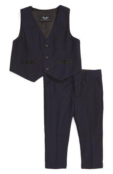 Bardot Junior 'Oxford' Vest & Pants Set (Baby Boys) available at #Nordstrom