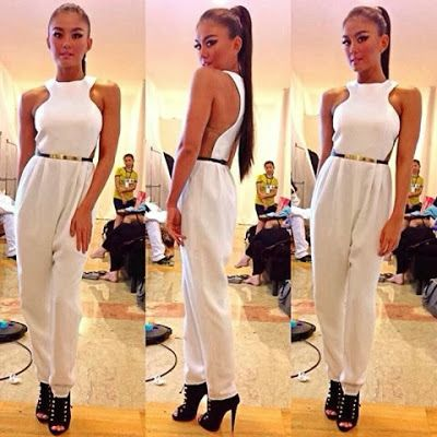 Agnez Mo on Backstage Nez Academy. I love the jumpsuit.it oozes contemporary.