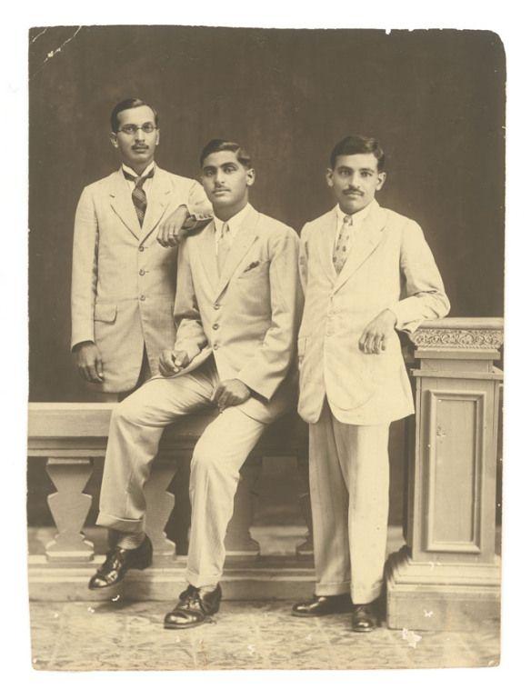 Three Indian Men in Western Cloth - Date Unknown