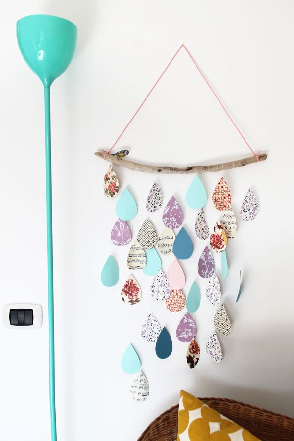 DIY inspiration paper drops wall hanging
