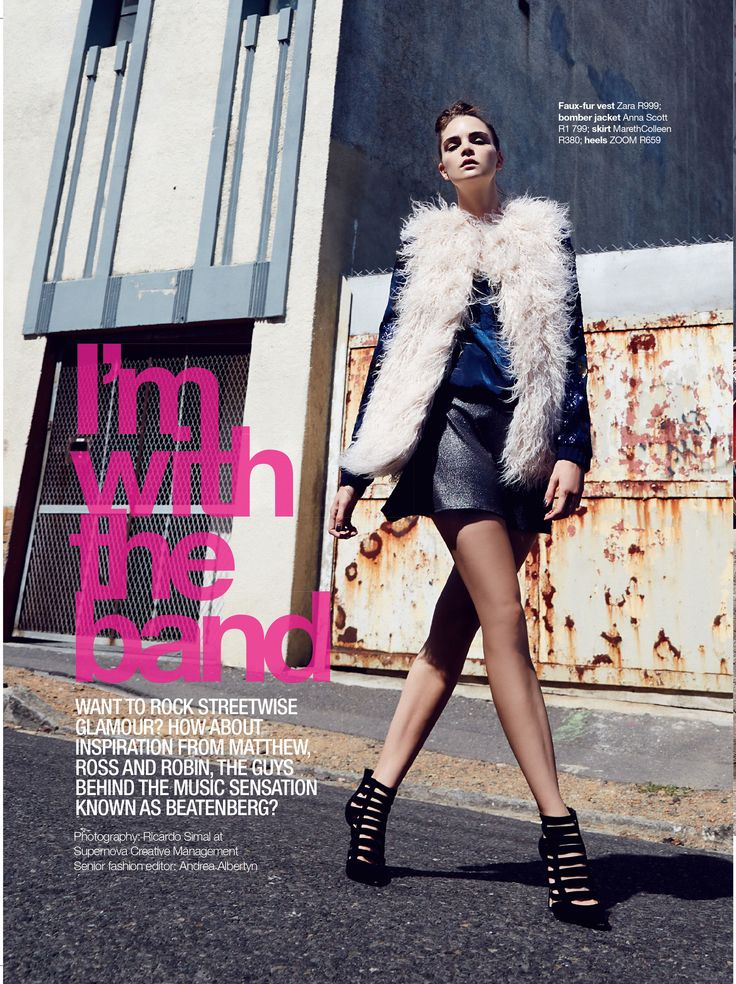 Media// Our Flare Skirt features in the April 2015 Issue of Glamour Magazine