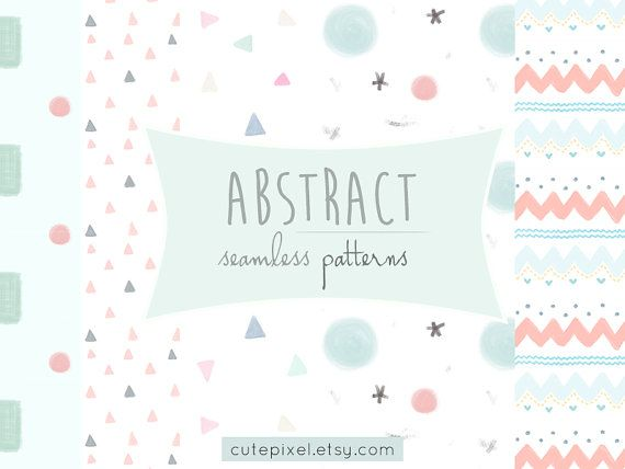 cute geometric abstract patterns