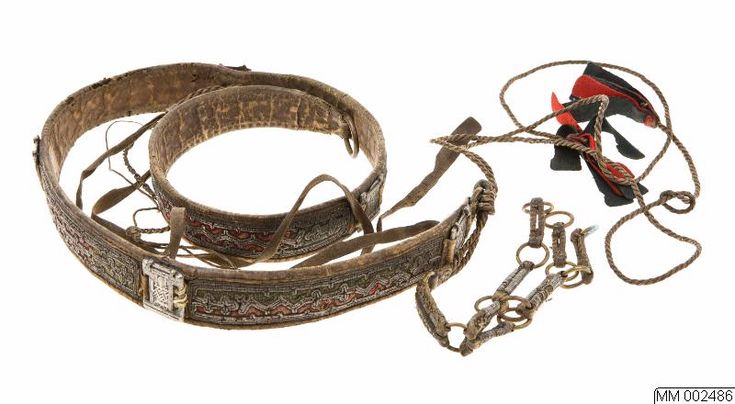 Åarjelsaemien beelhte South Saami belt from Frostviken, Jämtland, Sweden, 1902.