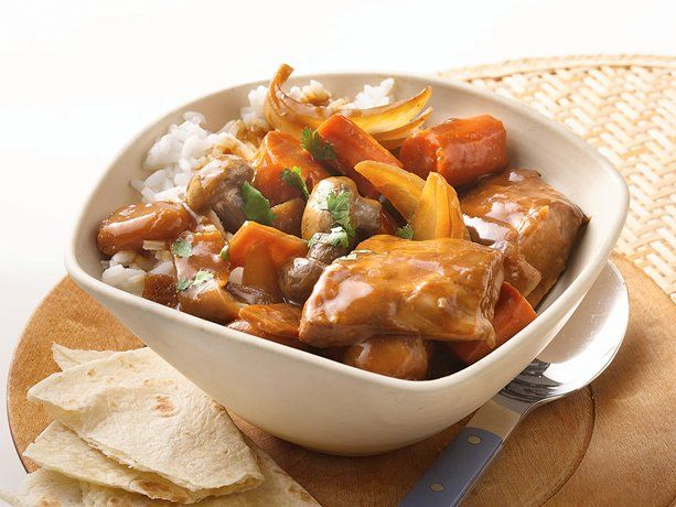 Betty Crocker Crockpot Recipe for Asian Pork Stew using boneless, country style ribs - rated highly and sounds yummy!