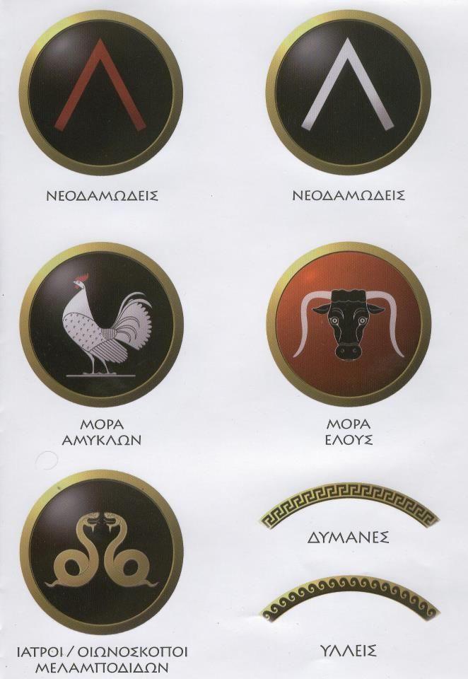 Greek shield patterns