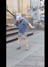 What. A. Pro.   This Elderly Woman Dancing Her Heart Out Will Make Your Day